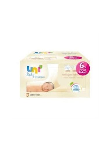 Uni Baby Yenidoğan Islak Pamuk Mendil 6'Lı Fırsat Paketi Renkli